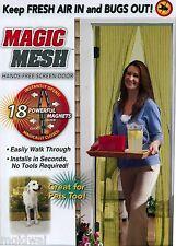 Magic Mesh Hands-Free Screen Door with magnets AS SEEN ON TV New in Original Box