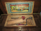 Vintage Mason and Parker Mfg. Co. Model Tool Chest No. 314 & Tools for Boys