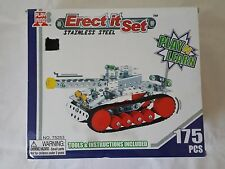 Erect it Set Stainless Steel Tank Play n learn aged 6 and up