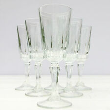 Vintage French Set 6 Stemmed Sherry Wine Aperitif Glasses