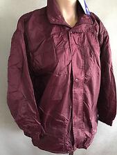 BNWT Boys/Girls Sz 4 LWR Brand Waterproof Polar Fleece Lined Maroon Rain Coat
