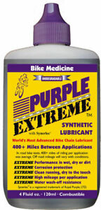 Multiple Award Winning PURPLE EXTREME bicycle chain lubricant from Bike Medicine