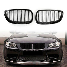 For BMW 06-09 E92/93 328i 335i 2DR Front Kidney Grille Grill Double Rib Blk