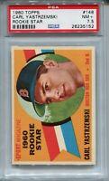 1960 Topps Baseball #148 Carl Yastrzemski Rookie Card RC Graded PSA 7.5 Red Sox