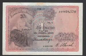 Portugal 1 Escudo 1920  Good  P. 113,   Banknote, Circulated
