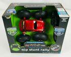 Remote Control Red Stunt Car The Black Series 49 MHz Wireless Flip Stunt Rally