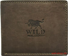 Damen Geldbörse Premium Wild Geldbeutel Portemonnaie Portmonee echt Leder L45-47