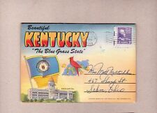 18 Postcard Views Souvenir Folder Kentucky The Blue Grass State 1950