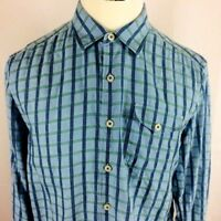 TOMMY BAHAMA Island Modern Fit Mens Large Long Sleeve Button Up Shirt Plaid