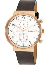 Skagen Men's Ancher Leather Chronograph Watch SKW6371