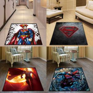 Superman Carpet Mat Home Area Chair Rugs Square Carpet Multi-function Non-slip