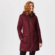 Regatta Romina Long WP Padded Jacket Burgundy Size 14