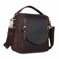 Vintage Leather Canon Nikon DSLR Camera Bag Shoulder Sling Bag Cross Body Tote