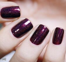 ILNP - Chromatic Nail Polish - Black Orchid - Deep Burgundy / Purple Holographic