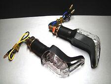 ►4X LED MINIBLINKER SHARK/N SCHWARZ CAGIVA Mito EV125,N90,Super City,W16,SX350