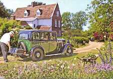 "~  Morris Isis 1932? ~  ""Packing the car"" in East Anglia ~ Birthday card"