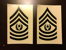 Vietnam US Army Rank Insignia Sticker Decals For Helmet Liners Commander Sgt Maj