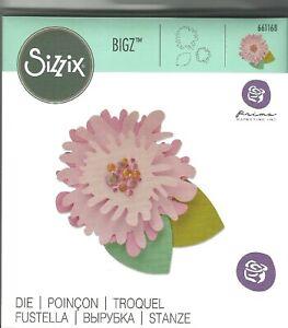 RARE Sizzix BIGZ Die AVA Flower & Leaf by Prima Design #661168 Discontinued 2015