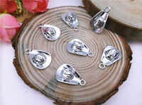 Wholesale 10pcs Tibet Silver Cowboy Hat Charm Pendant Beaded Jewelry 108