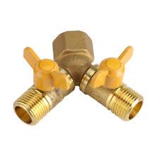 Zwei Weg Ventil G1/2 Messing Gartenschlauch Adapter Dual Wasserhahn Anschluss