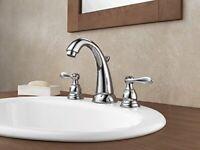 Delta Faucet 2-Handle Widespread Bathroom Faucet w/Metal Drain Assembly Chrome
