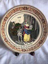 "Adams China England Cries Of London Selling Turnips 91/2"" Decorative Wall Plate"