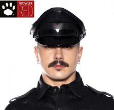 Prowler RED Military Cap Black 57cm Medium Leather Classic Look - DISCREET P&P