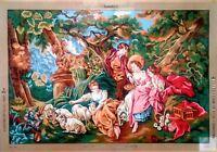 "Needlepoint tapestry canvas.Ladies with animals 90x130cm 36x51"" Gobelin L 12.464"