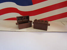 LEGO (2) OLD BROWN TREASURE CHESTS HARRY POTTER, PIRATE'S OR ANYTHING YOU NEED
