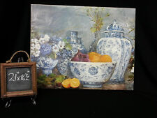 Guild Master Picture, Artist C. Smith 1994 Bowls of Fruit and Vases of Flowers