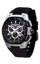 Jorg Gray JG8300-23 Mens Watch Chronograph Black Dial Black Silicone Strap