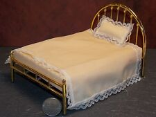 Dollhouse Miniature Brass Bed Double Half Moon 1:12 in scale F52A Dollys Gallery