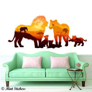 Lion King Wall Sticker Simba Disney Family Safari Africa Art Decal Home Decors