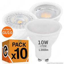 10 LAMPADINE LED GU10 3W a 10W Lampadina Porta Faretto Incasso Lampada Dimmer