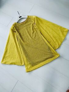 Handmade Yellow Sequin Cape Dress Size 8