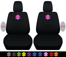 2005-2015 suzuki swift front car seat covers black w/ s ,airbags compatible!!!