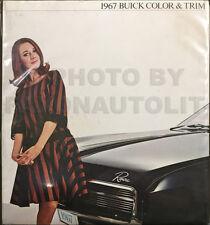 1967 Buick Color Upholstery Dealer Album Riviera GS Skylark Special LeSabre Etc.