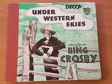 "5 Disc ""Under Western Skies"" 78 Box set Collection by Bing Crosby"
