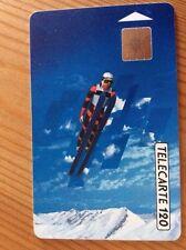 Collectable Phone Card France Ski Jumper Olympics '92 France Telecom Telecarte
