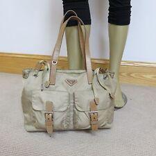 PRADA Handbag Nylon & Leather Bag  -100% Authentic