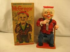 VINTAGE TN JAPAN BATTERY OPERATED McGREGOR SCOTSMAN WITH BOX WORKING