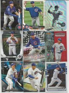 (44) 2018 2020 NICO HOERNER ROOKIE SP LOT BOWMAN TOPPS CHROME REFRACTOR CUBS