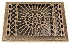 "Vintage Cast Iron Floor Grate Register Victorian Heating Furnace Home 13"" x 10"""