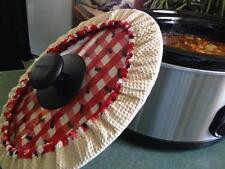 Slow Cooker Covers - Large ROUND 26-27cm 5-7 Litre (measure lid&see description)