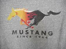 "Gray FORD MUSTANG 1964 T Shirt Size L Official License Product 40"" Chest   #172"