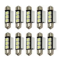 10* 36mm 3SMD 5050 6418 C5W CANBUS Error Free LED Bulb License Plate Dome Light