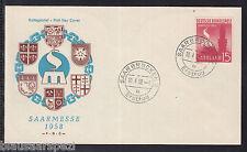 A 110 ) Saarland FDC - Saarmesse 1958