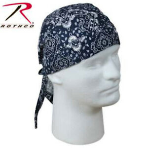 Rothco Head Wrap Skull Cap - Trainmen Pattern - Blue/White by Rothco 5135