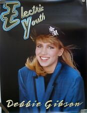 RARE DEBBIE GIBSON ELECTRIC YOUTH 1989 VINTAGE MUSIC RECORD STORE PROMO POSTER