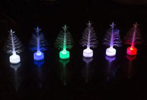 Colourful Mini Christmas Tree Shape LED Night Light Table Desk Lamp Home Decor